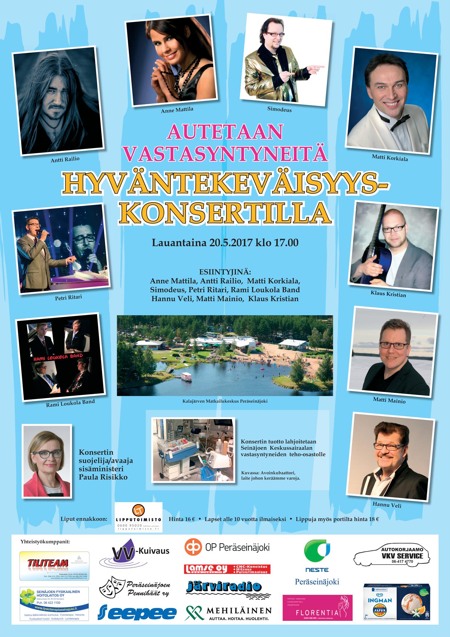 Hyväntekeväisyyskonsertti Kalajärvellä 20.5.2017